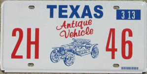 CLICK for earlier plate designs  sc 1 st  The Bolthole & Texas Antique Vehicle License Plates