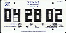 image about Printable Temporary License Plate referred to as Texas Vendor License Plates