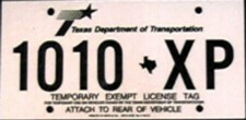 Texas Government License Plates
