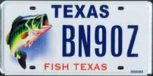 Texas license plates for Fishing license in texas